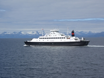 Fauske to Narvik ferry, Norway